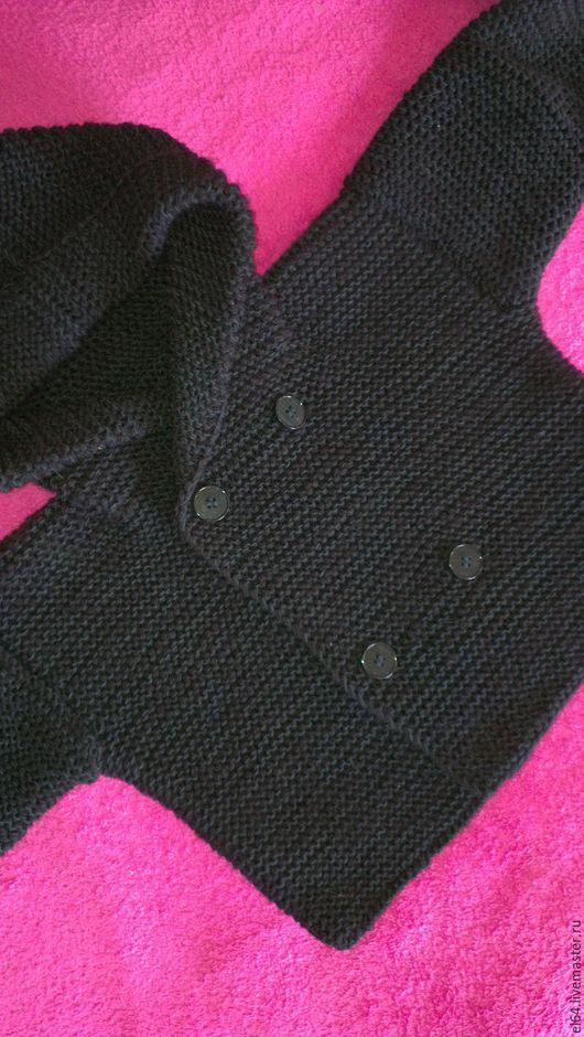 Одежда для мальчиков, ручной работы. Ярмарка Мастеров - ручная работа. Купить Джемпер с капюшоном для малыша. Handmade. Черный, джемпер