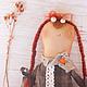 кукла в подарок, смешная кукла, забавный подарок, рыжая куколка, рыжик, конопатая кукла, авторская кукла, необычная кукла
