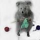 Игрушки животные, ручной работы. Ярмарка Мастеров - ручная работа. Купить Мышка — рукодельница. Handmade. Игрушка ручной работы