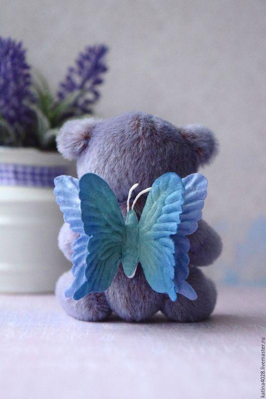 Мишки Тедди ручной работы. Ярмарка Мастеров - ручная работа. Купить Мечтающий стать бабочкой Мишка. Handmade. Сиреневый