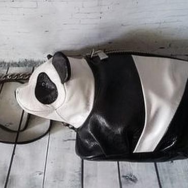Сумки и аксессуары ручной работы. Ярмарка Мастеров - ручная работа Детская сумка панда. Натуральная кожа. Handmade.