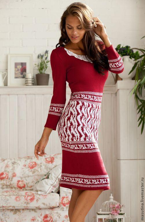 """Платья ручной работы. Ярмарка Мастеров - ручная работа. Купить Платье """"Любимая помада"""". Handmade. Ярко-красный, платье на заказ"""