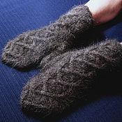 Аксессуары handmade. Livemaster - original item Men`s knitted  mittens Lacing. Handmade.