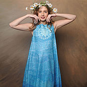 Одежда handmade. Livemaster - original item Felt dress spring waters. Handmade.