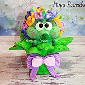Куклы и игрушки handmade. Livemaster - original item Soft toys: Flower cactus-hedgehog. knitted hedgehog. Handmade.