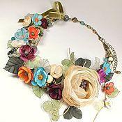 Украшения handmade. Livemaster - original item Fairy Colorful Dreams. Necklace, brooch flower, earrings, removable floral decor. Handmade.