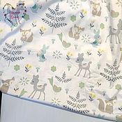 Материалы для творчества handmade. Livemaster - original item Fabrics Cotton satin Moscow small flowers on pink deer. Handmade.