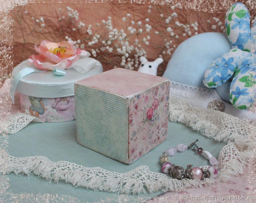 """Кубик винтажный """"Мятно-розовый"""", Кукольные домики, Новосибирск,  Фото №1"""