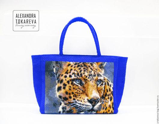 Женские сумки ручной работы. Ярмарка Мастеров - ручная работа. Купить Эксклюзивная сумка ручной работы вышитая бисером « Jaguar ». Handmade.