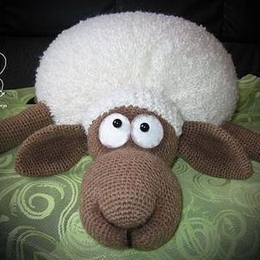Textiles handmade. Livemaster - original item Car/sofa sheep. Handmade.
