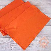 Tablecloths handmade. Livemaster - original item Path on the table water repellent orange. Handmade.