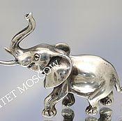 Винтаж ручной работы. Ярмарка Мастеров - ручная работа Слон фигурка серебро 42гр 9. Handmade.