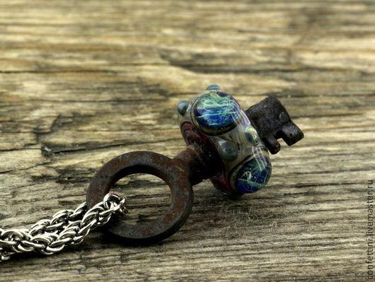 """Кулоны, подвески ручной работы. Ярмарка Мастеров - ручная работа. Купить """"Ключ чародейки"""" лэмпворк кулон. Handmade. Старинный ключ"""