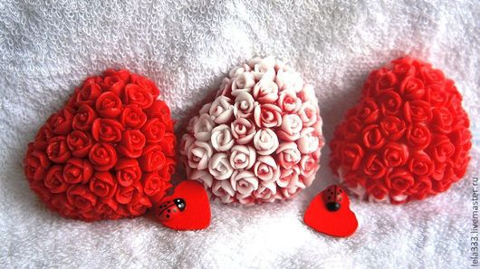 """Мыло ручной работы. Ярмарка Мастеров - ручная работа. Купить Мыло ручной работы Бомбоньерки """"Миллион алых роз"""". Handmade."""