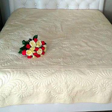 Текстиль ручной работы. Ярмарка Мастеров - ручная работа Свадебный подарок. Покрывало. Handmade.