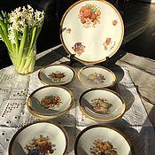 Vintage sets handmade. Livemaster - original item Dessert set 11 Ave., Germany. Rarity. Handmade.