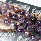 Материалы для творчества handmade. Livemaster - original item Melodite (quartz seven melodies) 10 mm smooth bead (4186-10). Handmade.