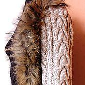 Одежда ручной работы. Ярмарка Мастеров - ручная работа Вязаные рукава для мехового, валяного или кожаного жилета.. Handmade.