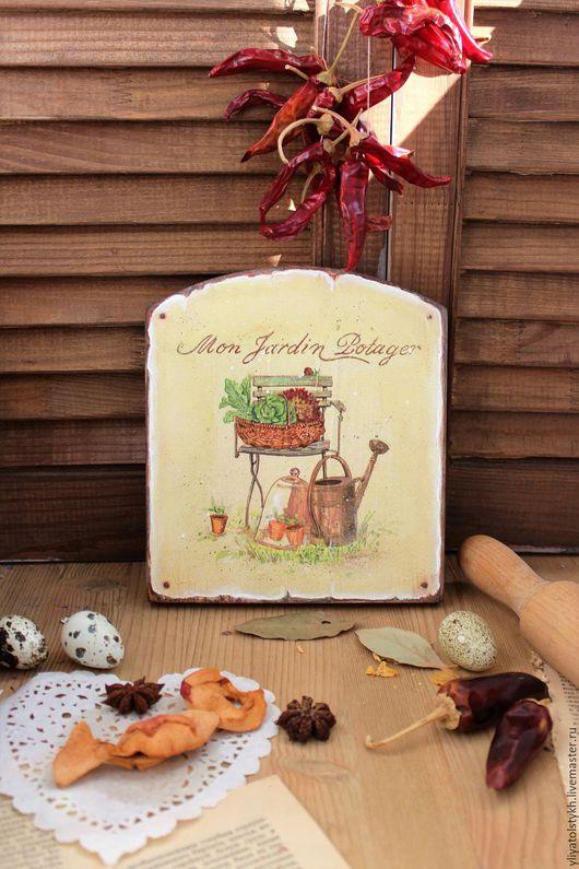 """Кухня ручной работы. Ярмарка Мастеров - ручная работа. Купить Панно для кухни """"Garden"""". Handmade. Бежевый, панно для кухни"""