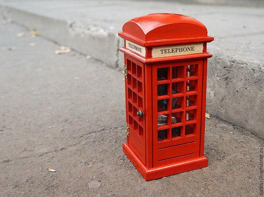 Светильник ` Английская телефонная` будка` для интерьера ночник ручной работы купить светильник ручной работы купить