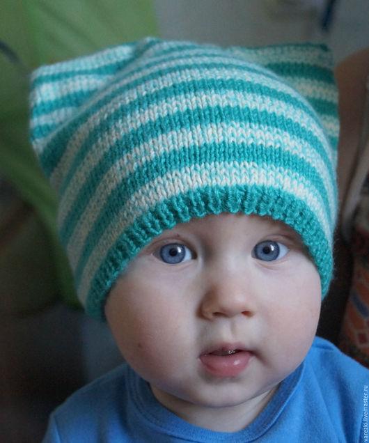 Шапки и шарфы ручной работы. Ярмарка Мастеров - ручная работа. Купить Детские шапочки Сова, зайка, котик. Handmade. Комбинированный