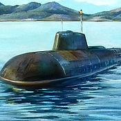 Картины и панно handmade. Livemaster - original item Pictures: Submarine. Handmade.