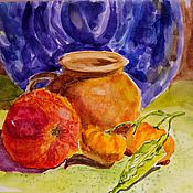 handmade. Livemaster - original item The Picture With Fruit Is Bright And Sunny. Handmade.