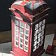 Персональные подарки ручной работы. Ярмарка Мастеров - ручная работа. Купить Копилка Телефонная будка  Лондон. Handmade. Английский стиль