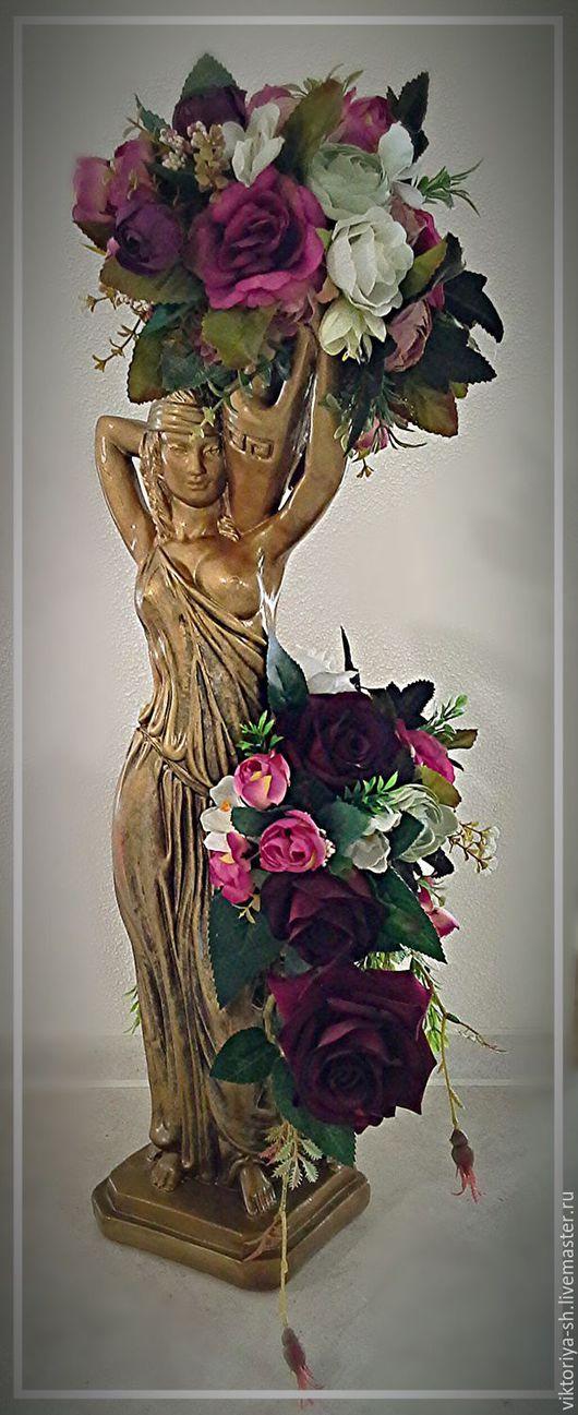 Статуэтки ручной работы. Ярмарка Мастеров - ручная работа. Купить Богиня изобилия. Handmade. Комбинированный, украшение интерьера, розы