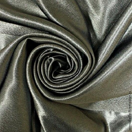 Шитье ручной работы. Ярмарка Мастеров - ручная работа. Купить Ткань портьерная однотонная Атлас Креп-сатен Серый цвет. Handmade.