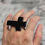 """Украшения ручной работы. Ярмарка Мастеров - ручная работа Кольцо """"Крест"""". Handmade."""