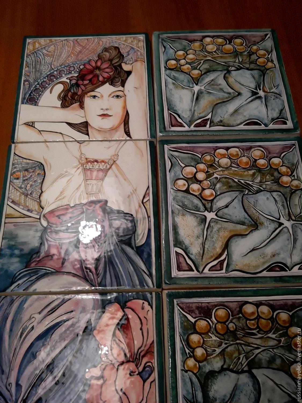 Ceramic hand panel Amethyst