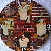 """Для дома и интерьера ручной работы. Ярмарка Мастеров - ручная работа Часы настенные """"Итальянская кухня"""". Handmade."""