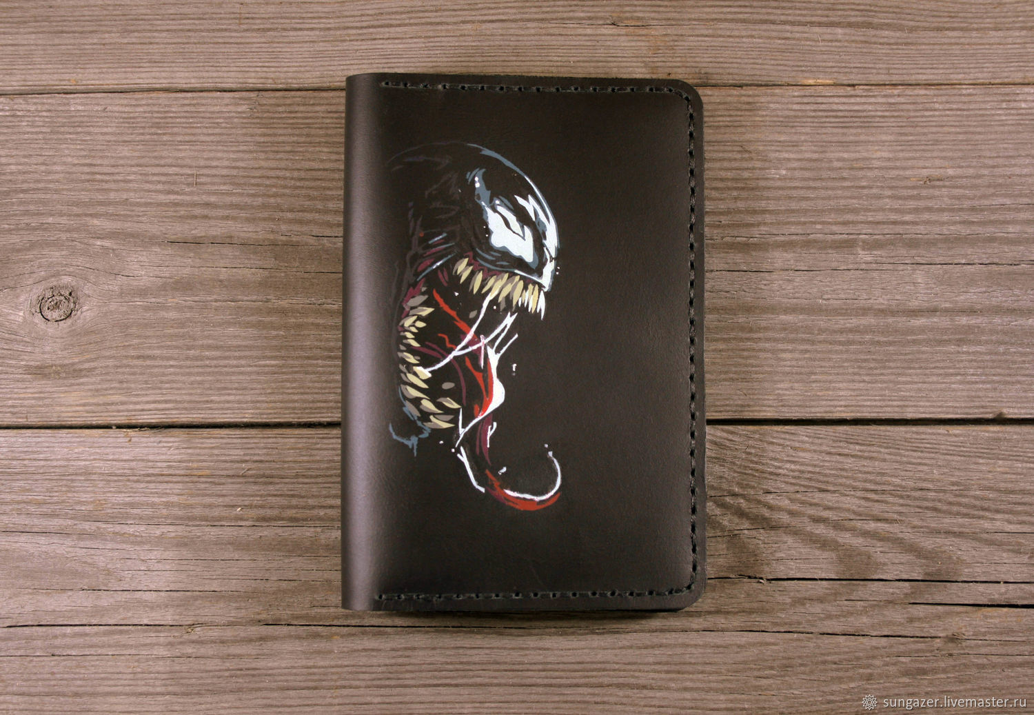 Passport cover leather with a Vein pattern, Passport cover, Murmansk,  Фото №1