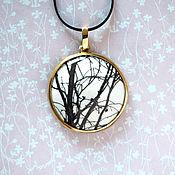 handmade. Livemaster - original item Pendant: Early Spring Morning 5, hot enamel, brass. Handmade.