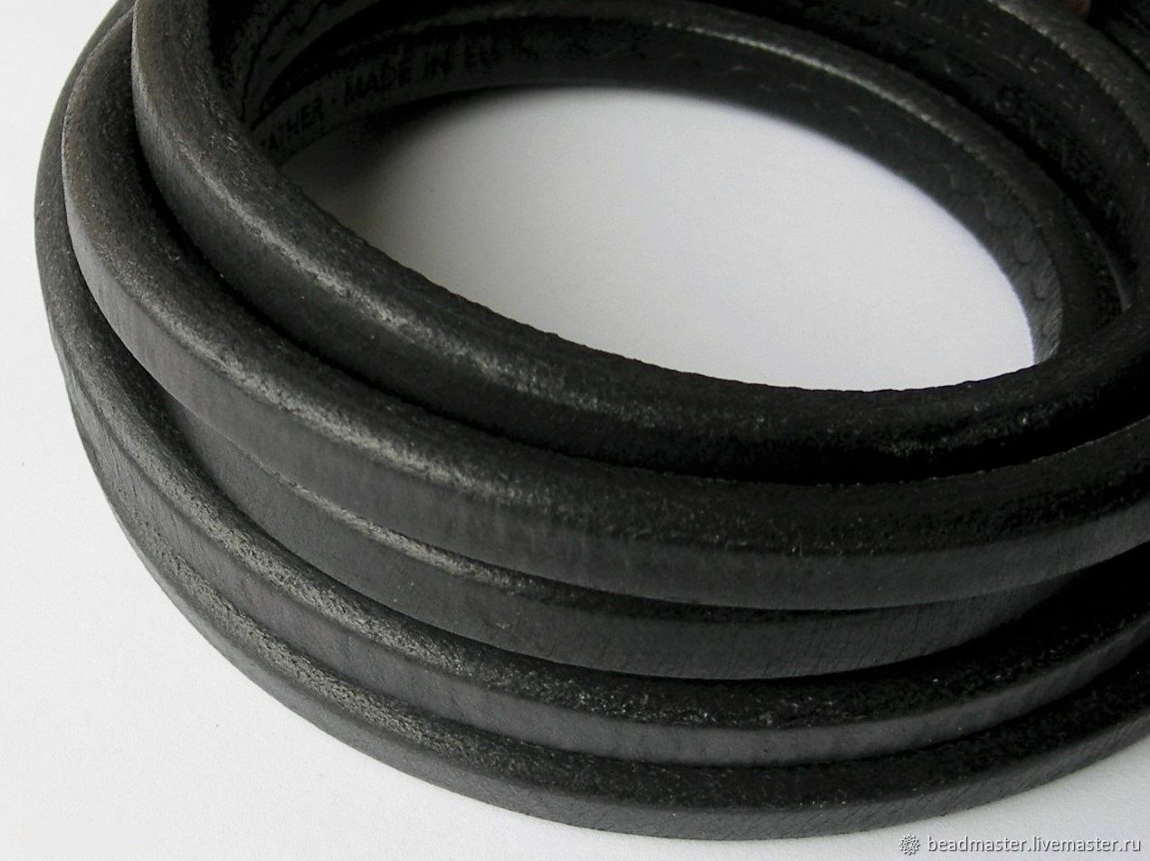 Шнур кожаный Регализ, 10х7 мм, Шнуры, Москва,  Фото №1