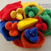 Куклы и игрушки ручной работы. Ярмарка Мастеров - ручная работа Развивающая детская игра Разноцветные мыши. Handmade.
