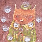 Картины и панно ручной работы. Ярмарка Мастеров - ручная работа Лис Весной! Авторский принт на холсте. Handmade.