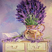 Картины и панно handmade. Livemaster - original item Oil painting on canvas. Lavender poetry. Handmade.