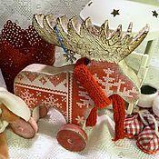 """Подарки к праздникам ручной работы. Ярмарка Мастеров - ручная работа """"Зимний лось"""" интерьерная игрушка. Handmade."""