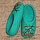 """Обувь ручной работы. Домашние тапочки """"Ветка рябины"""". GalinaVD. Интернет-магазин Ярмарка Мастеров. Тапки, тапочки женские"""