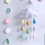 Подвески ручной работы. Ярмарка Мастеров - ручная работа Подвески: Детский декор, подарок на выписку,на рождение - Облачко. Handmade.