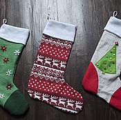 Подарки к праздникам ручной работы. Ярмарка Мастеров - ручная работа Новогодние носки  для подарков. Handmade.