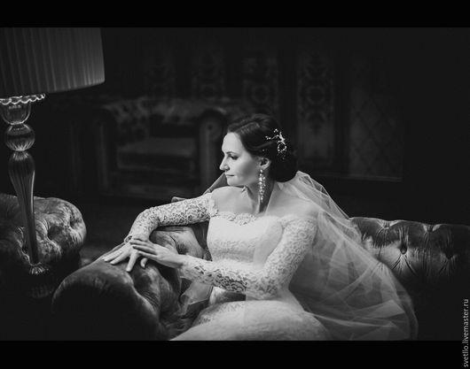 """Одежда и аксессуары ручной работы. Ярмарка Мастеров - ручная работа. Купить Свадебное платье """" Морозный узор"""". Handmade. Белый"""
