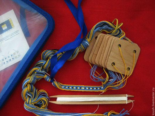 Другие виды рукоделия ручной работы. Ярмарка Мастеров - ручная работа. Купить Набор для ткачества на дощечках. Handmade. Бежевый