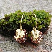 Украшения handmade. Livemaster - original item Silver plated earring Magic berries cloudberries. Handmade.