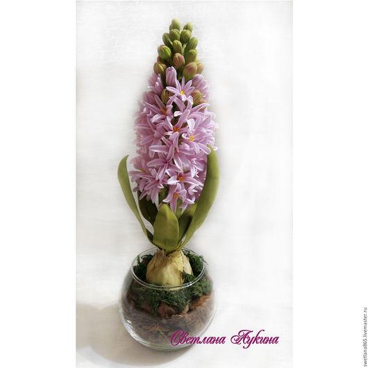 Цветы ручной работы. Ярмарка Мастеров - ручная работа. Купить Гиацинт. Handmade. Изделия из фоамирана, цветы из японской глины