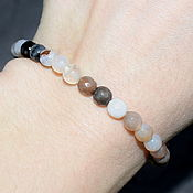 Украшения handmade. Livemaster - original item Bracelet with natural smoky agate cut. Handmade.