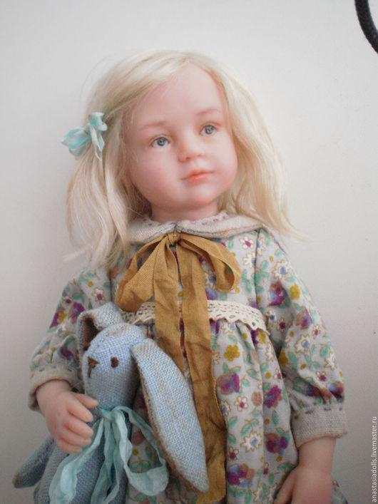 Коллекционные куклы ручной работы. Ярмарка Мастеров - ручная работа. Купить Авторская кукла из полимерной глины Стеша. Handmade. Голубой
