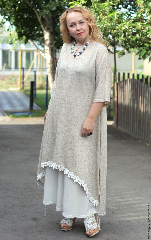 Платье из льна в стиле бохо